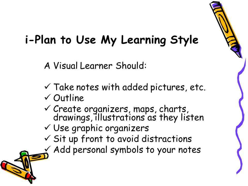 i-Plan to Use My Learning Style