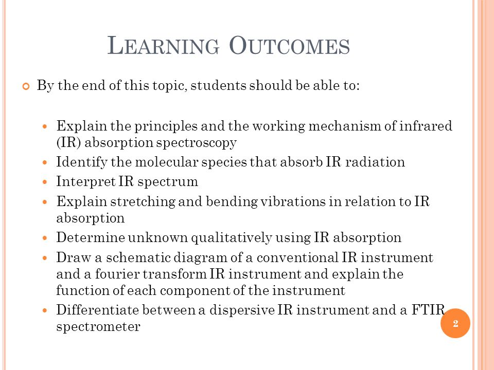Learning Outcomes By the end of this topic, students should be able to: