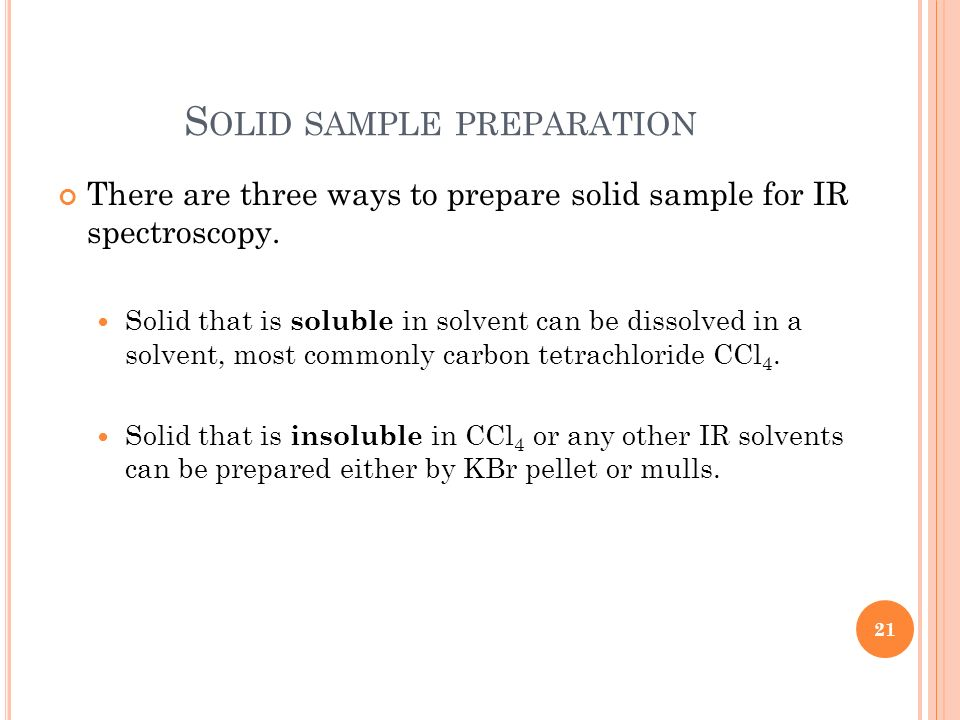 Solid sample preparation