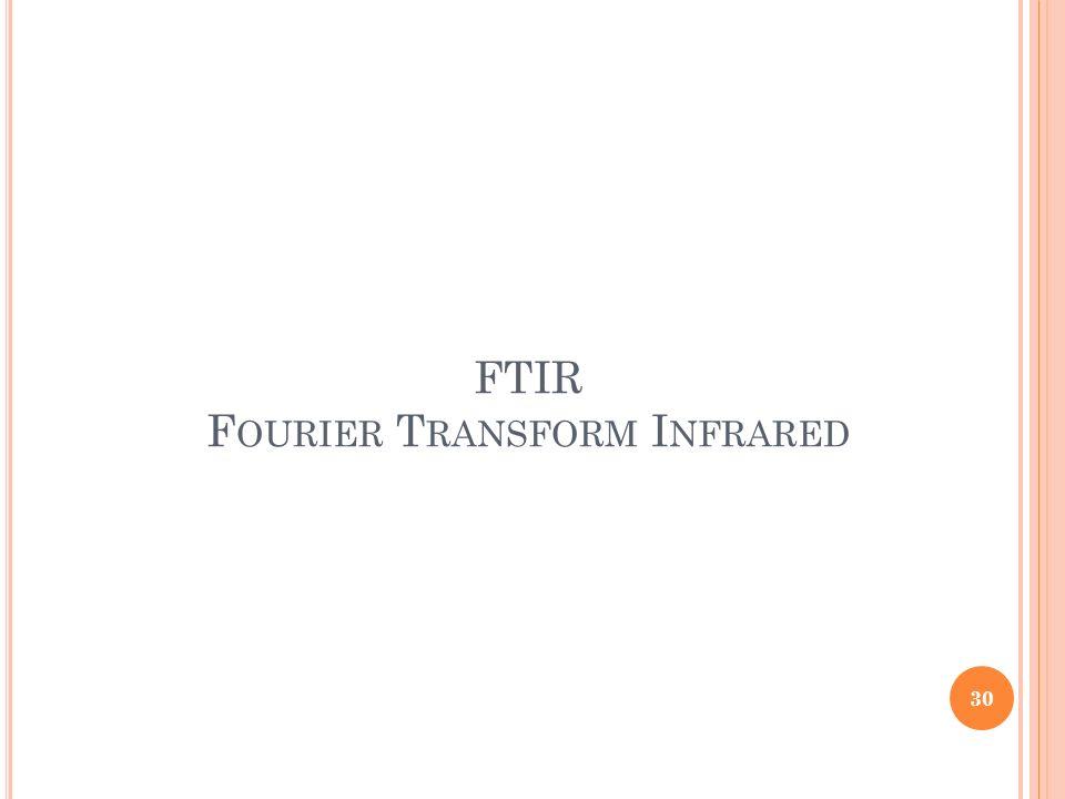 FTIR Fourier Transform Infrared