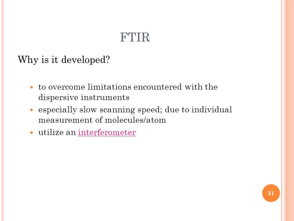FTIR Why is it developed