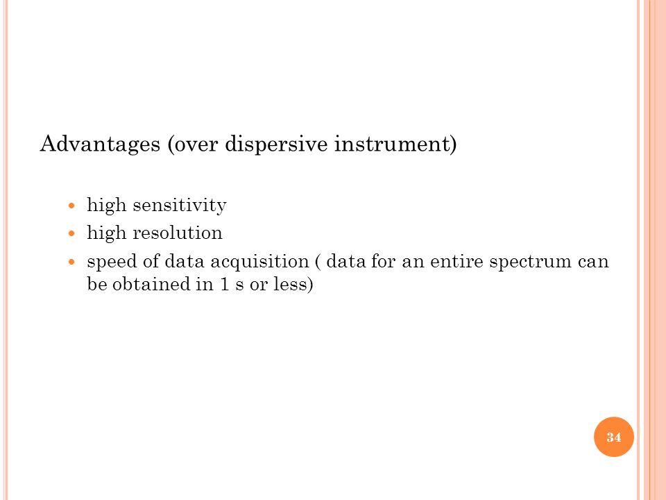 Advantages (over dispersive instrument)