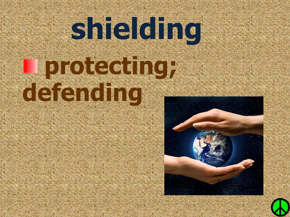 protecting; defending