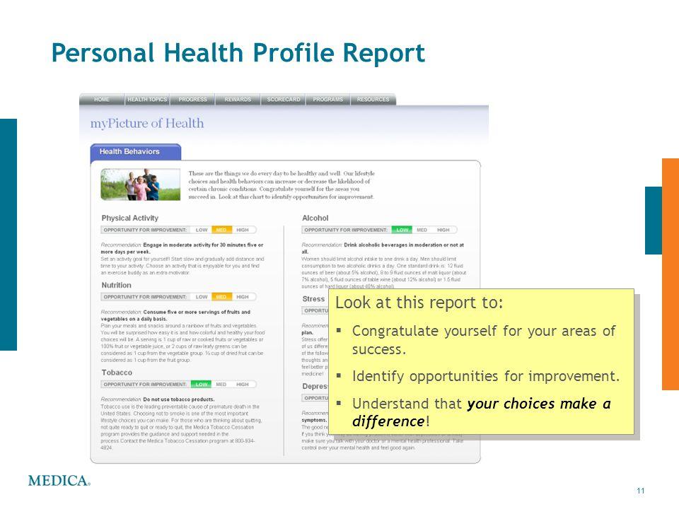 Personal Health Profile Report