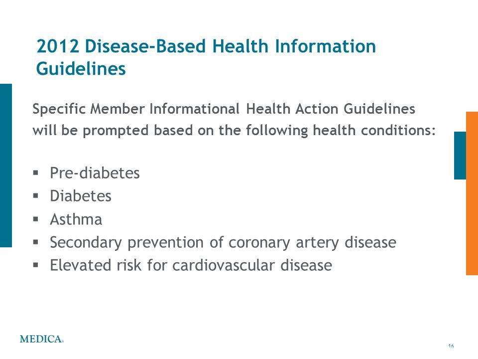 2012 Disease-Based Health Information Guidelines