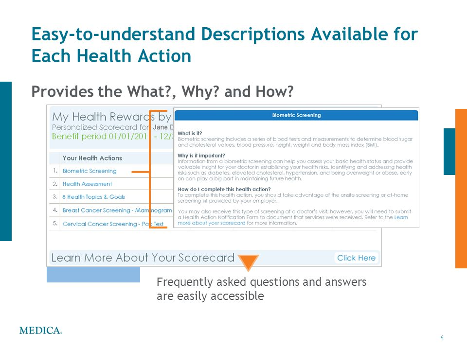 Easy-to-understand Descriptions Available for Each Health Action