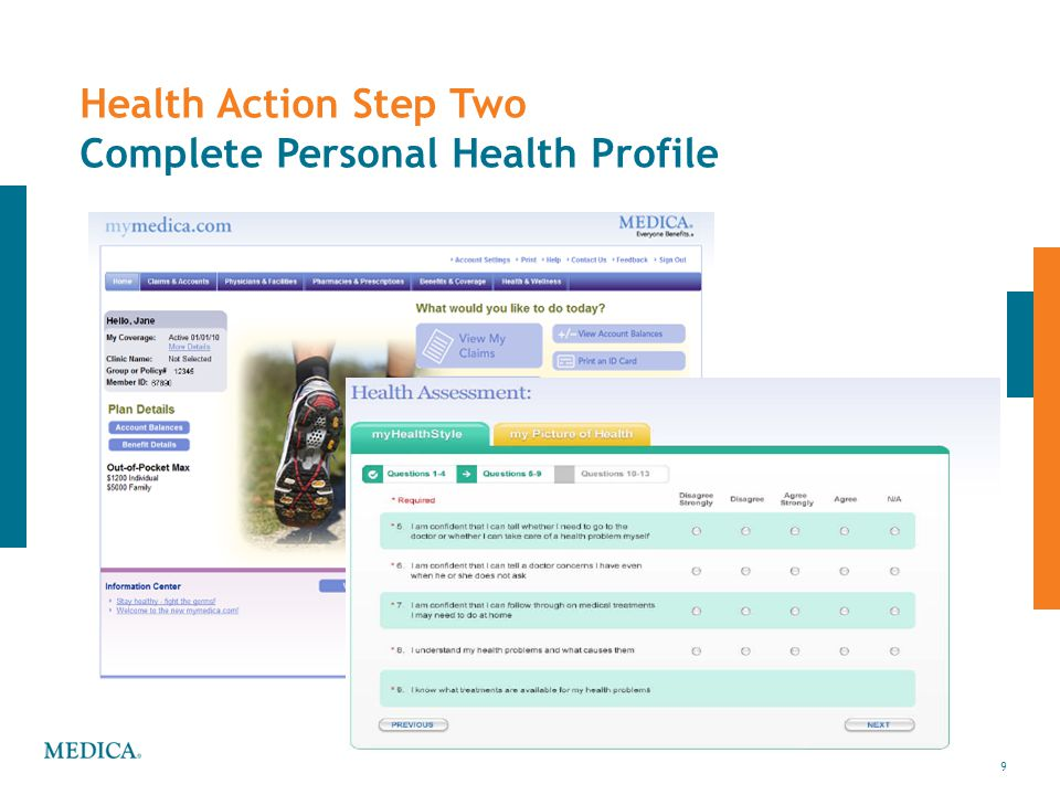Health Action Step Two Complete Personal Health Profile