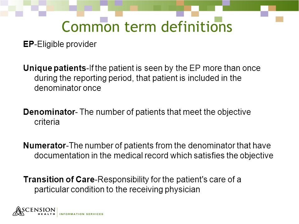 Common term definitions