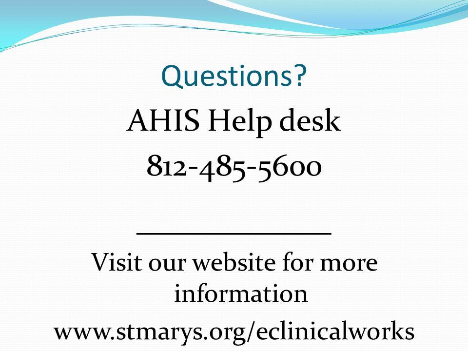 Visit our website for more information
