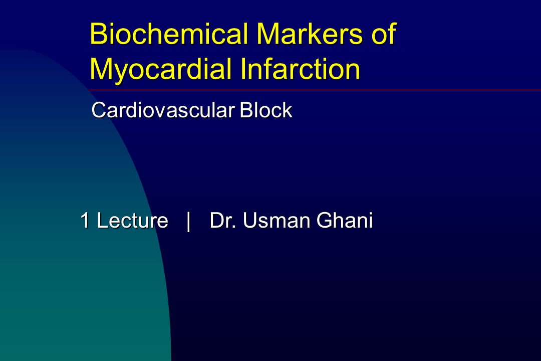 1 Lecture   Dr. Usman Ghani