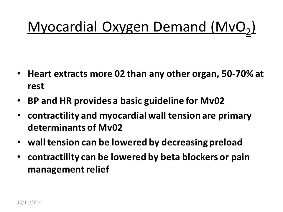 Myocardial Oxygen Demand (MvO2)