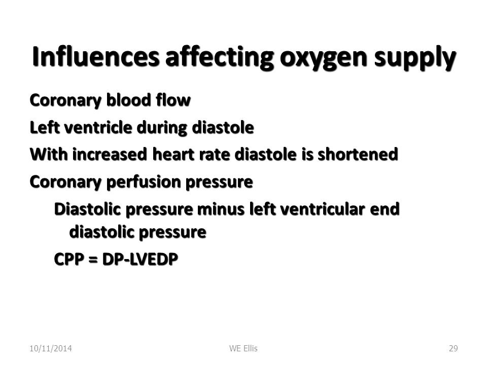 Influences affecting oxygen supply