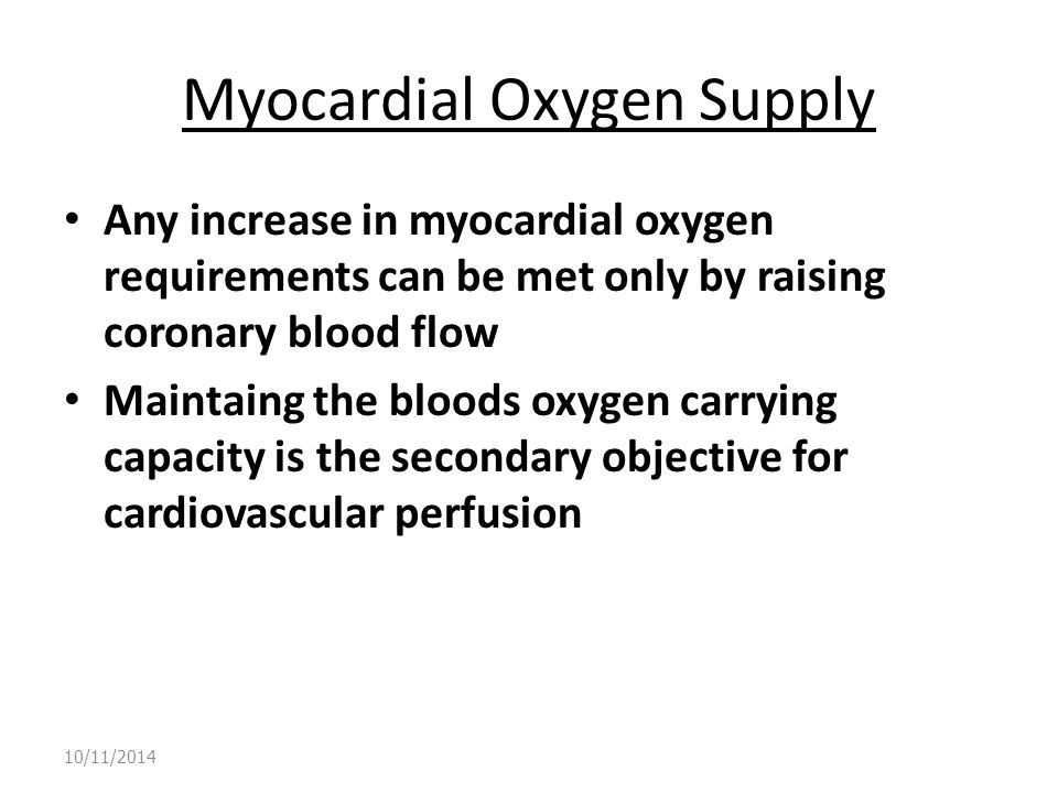 Myocardial Oxygen Supply