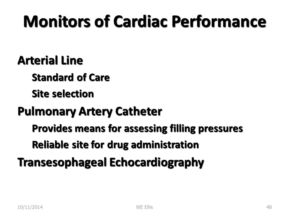Monitors of Cardiac Performance