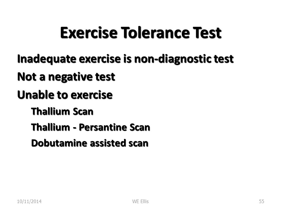 Exercise Tolerance Test