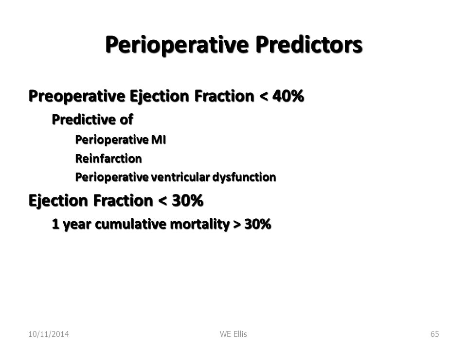 Perioperative Predictors