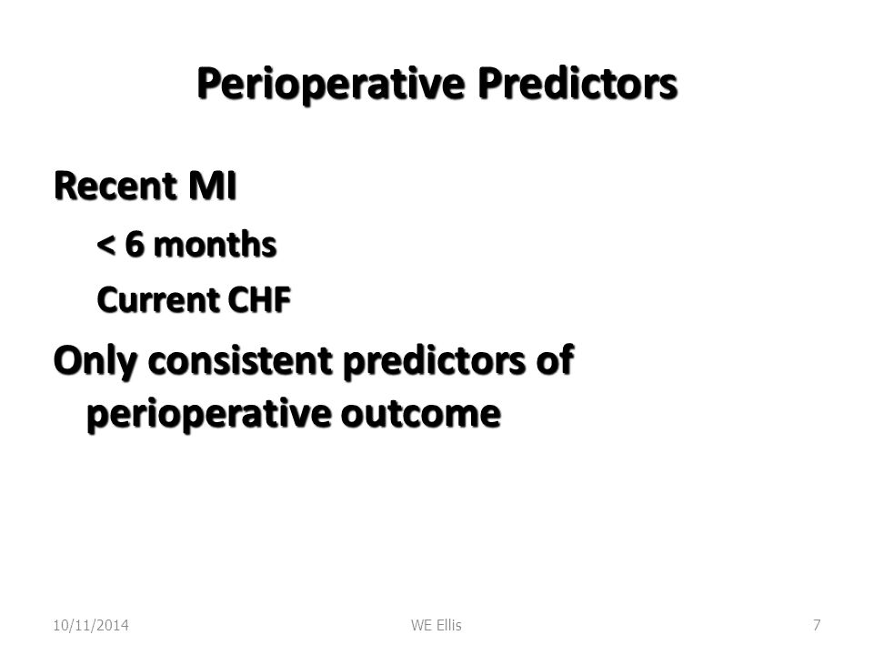 Perioperative Predictors