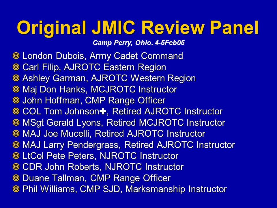 Original JMIC Review Panel