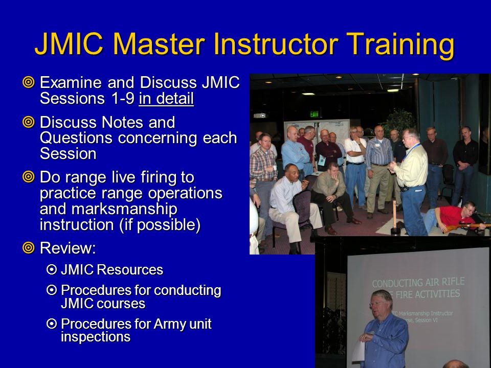 JMIC Master Instructor Training