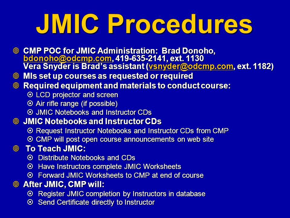 JMIC Procedures