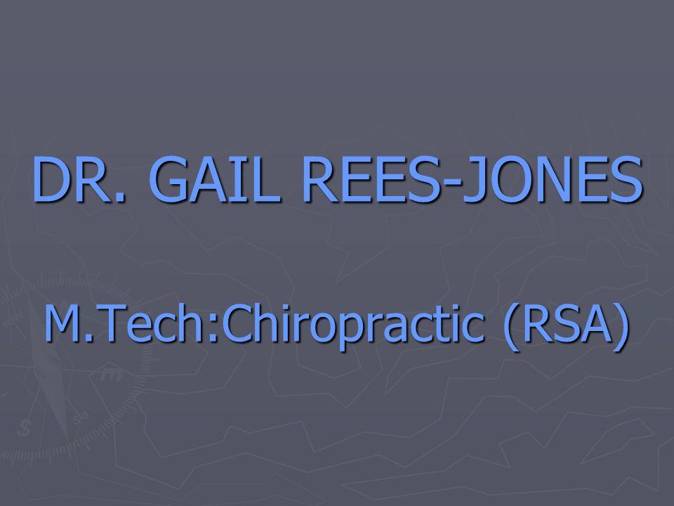 M.Tech:Chiropractic (RSA)