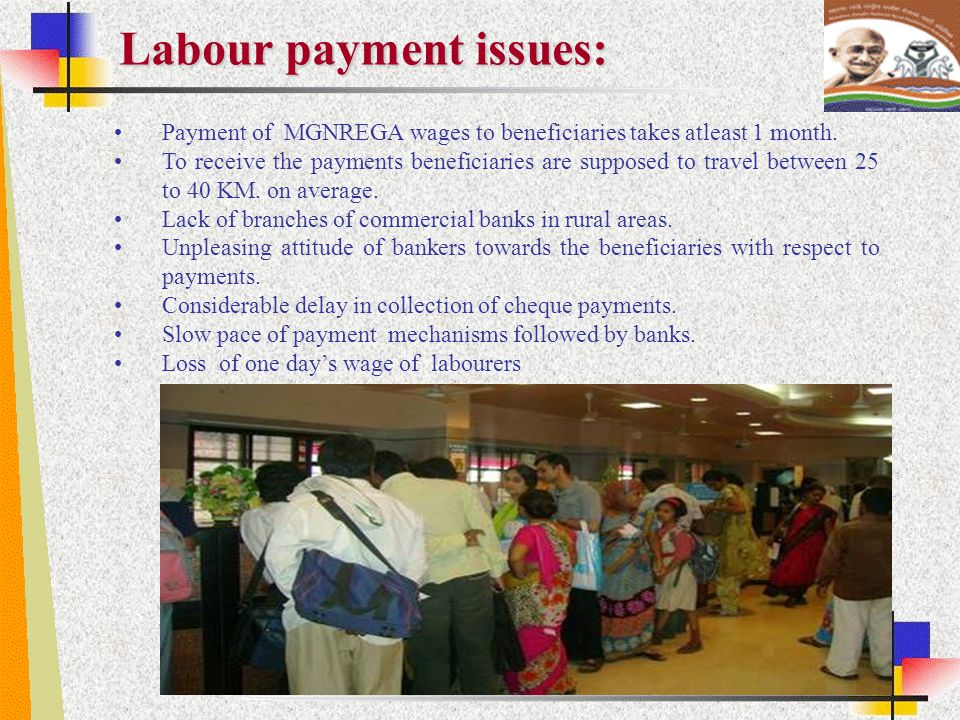 Labour payment issues: