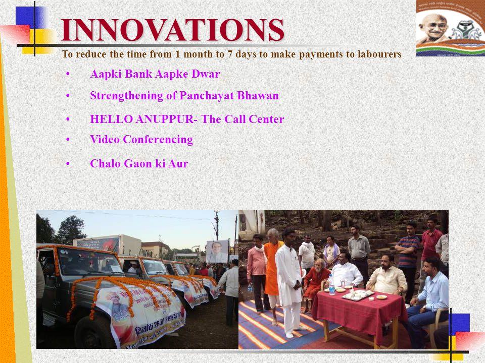 INNOVATIONS Aapki Bank Aapke Dwar Strengthening of Panchayat Bhawan