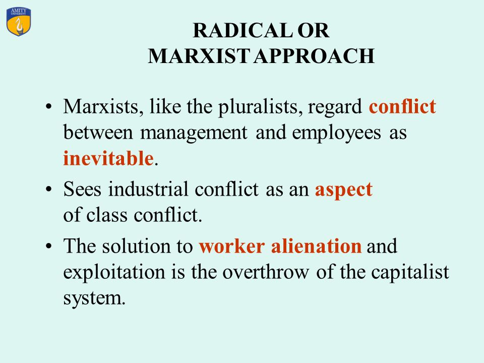 RADICAL OR MARXIST APPROACH