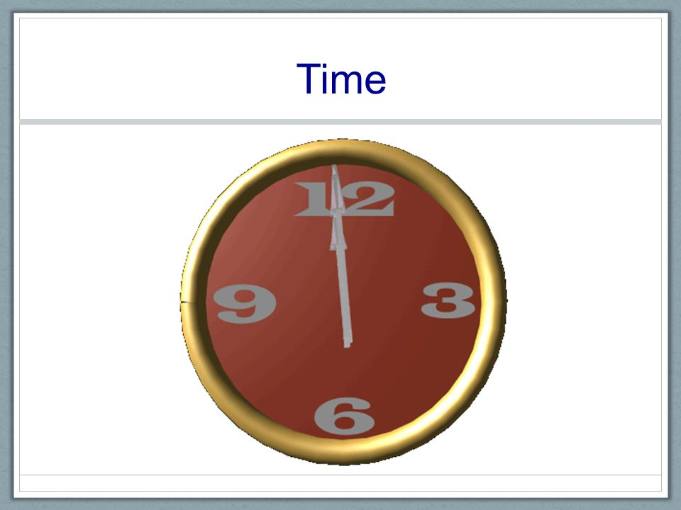 Time Continuous