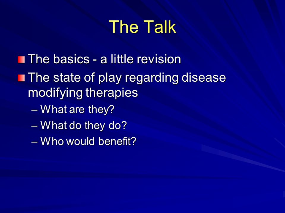 The Talk The basics - a little revision
