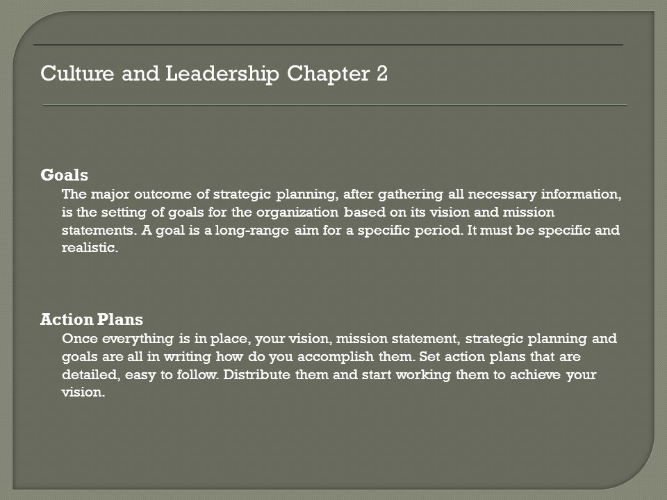 Culture and Leadership Chapter 2