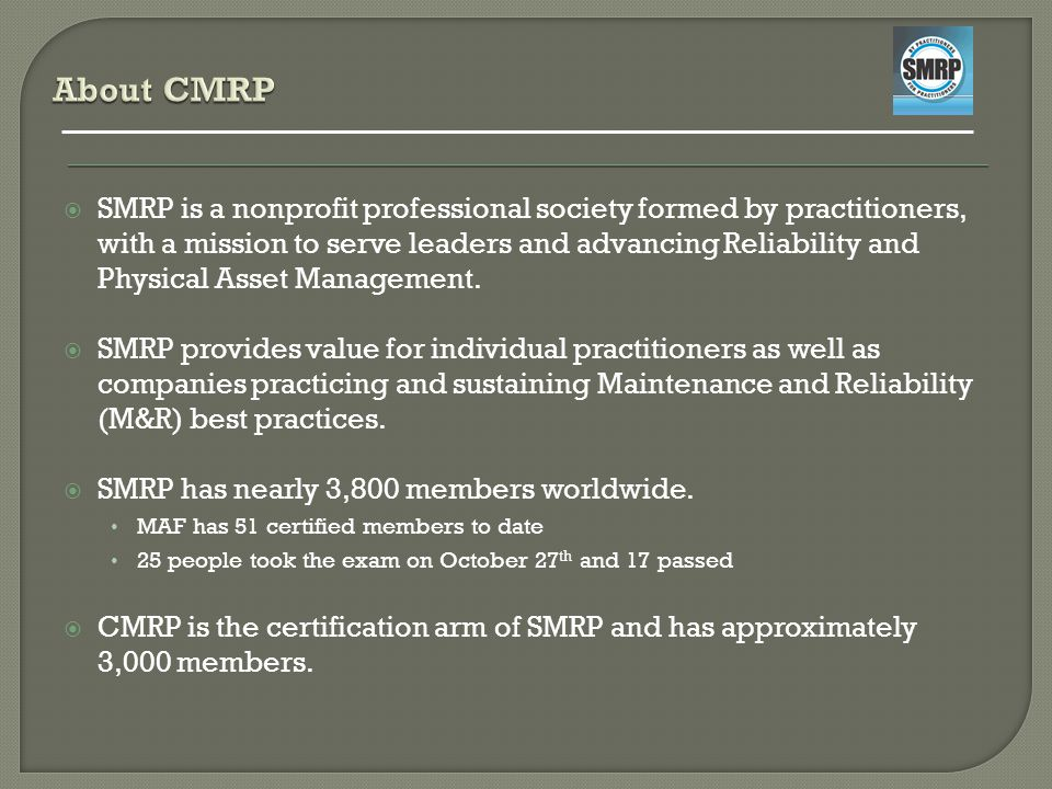 About CMRP