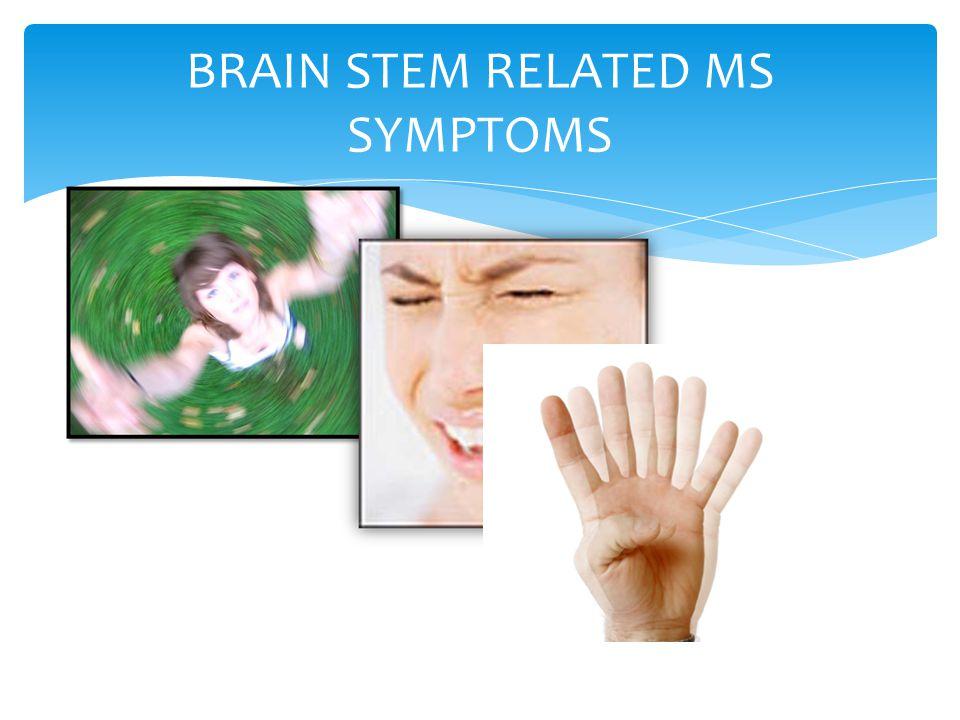 BRAIN STEM RELATED MS SYMPTOMS