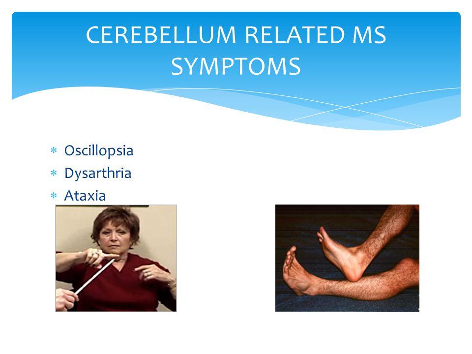 CEREBELLUM RELATED MS SYMPTOMS