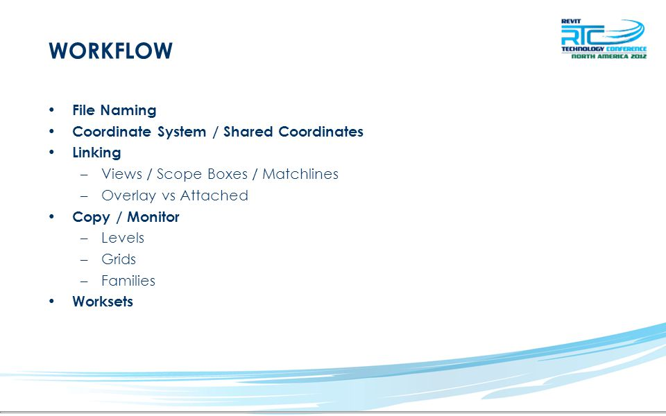 WORKFLOW File Naming Coordinate System / Shared Coordinates Linking