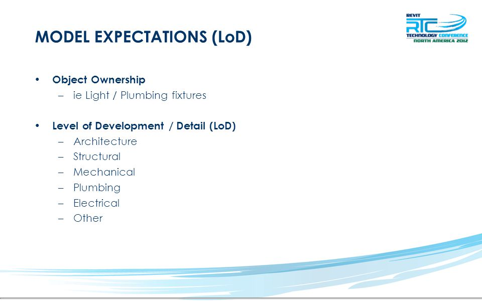 MODEL EXPECTATIONS (LoD)