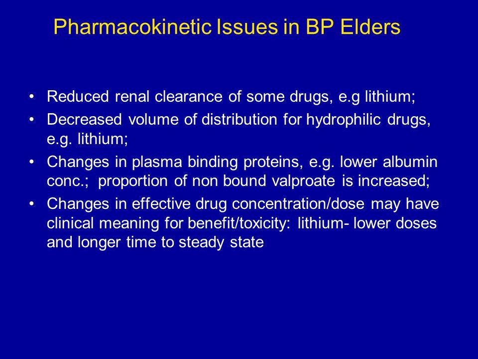 Pharmacokinetic Issues in BP Elders