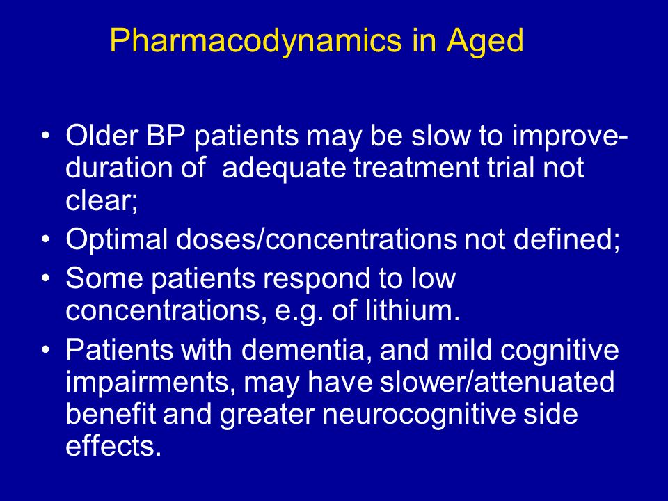 Pharmacodynamics in Aged