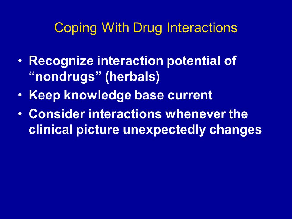 Coping With Drug Interactions