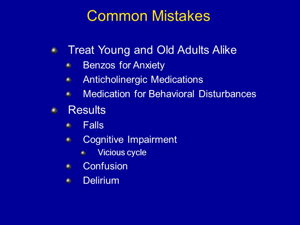 Common Mistakes Treat Young and Old Adults Alike Results