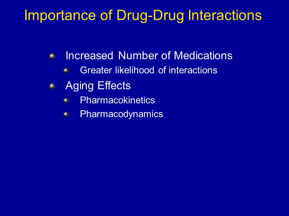 Importance of Drug-Drug Interactions