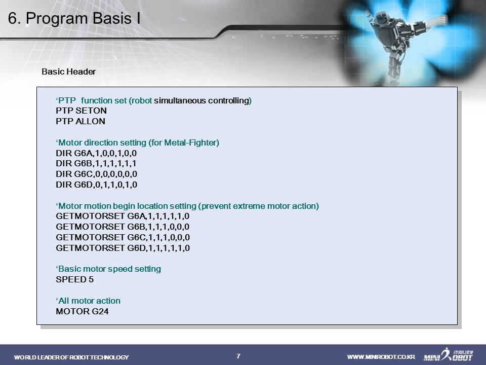 6. Program Basis I Basic Header