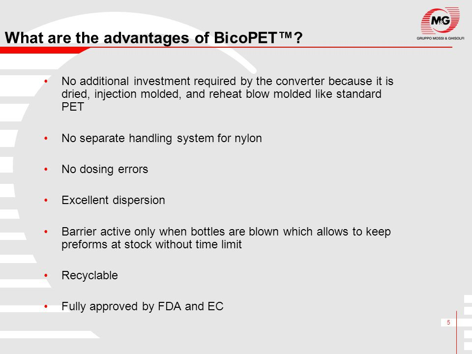 What are the advantages of BicoPET™