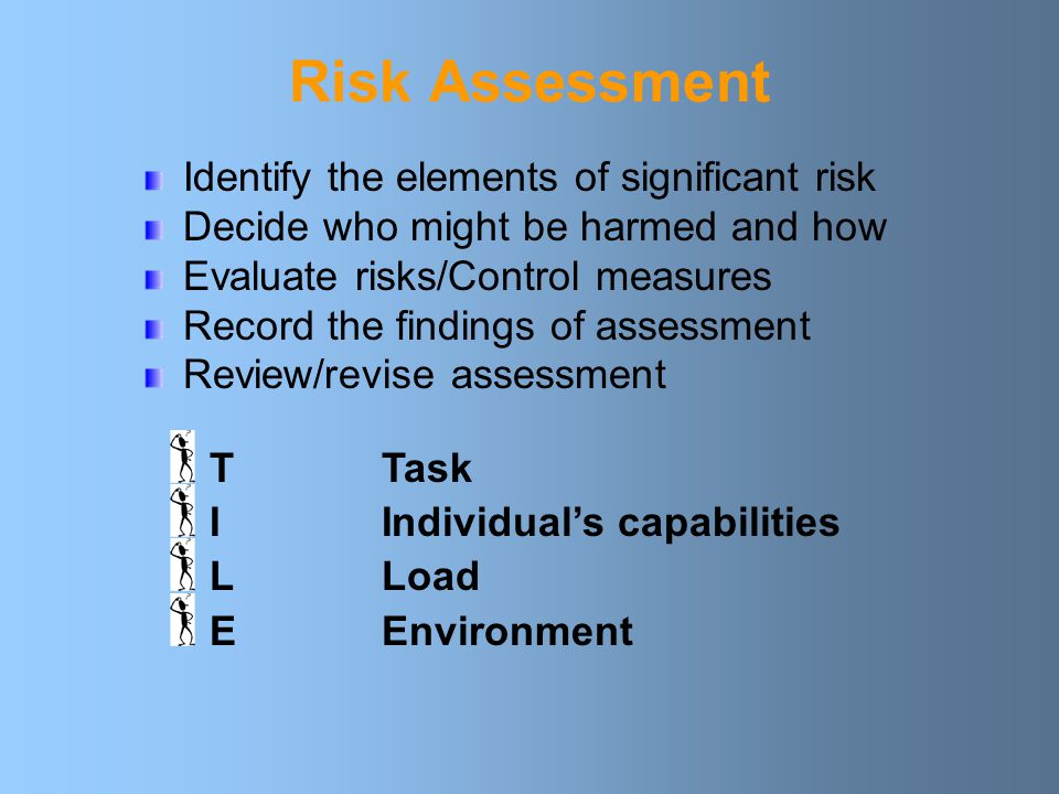 Risk Assessment Identify the elements of significant risk