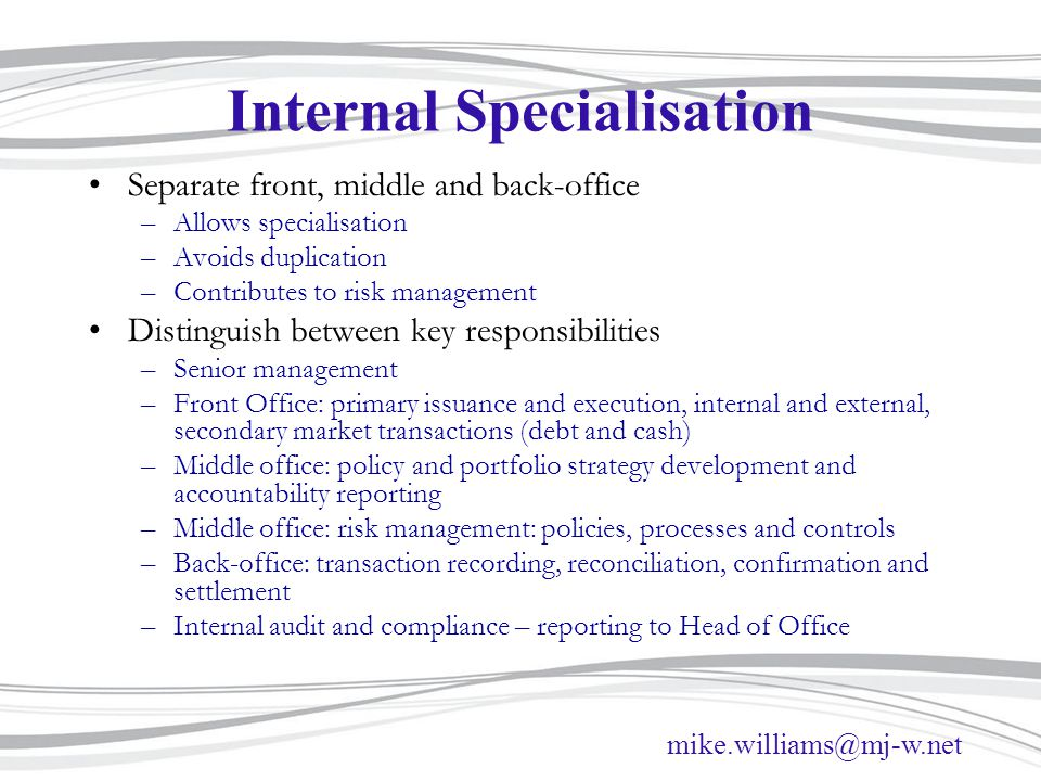 Internal Specialisation