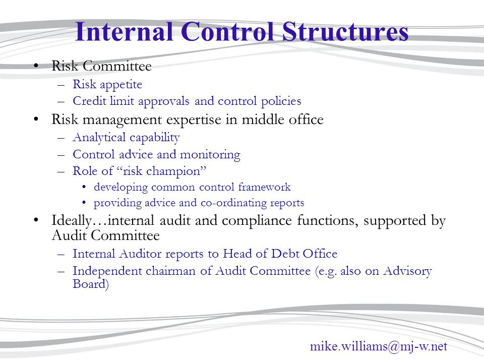 Internal Control Structures
