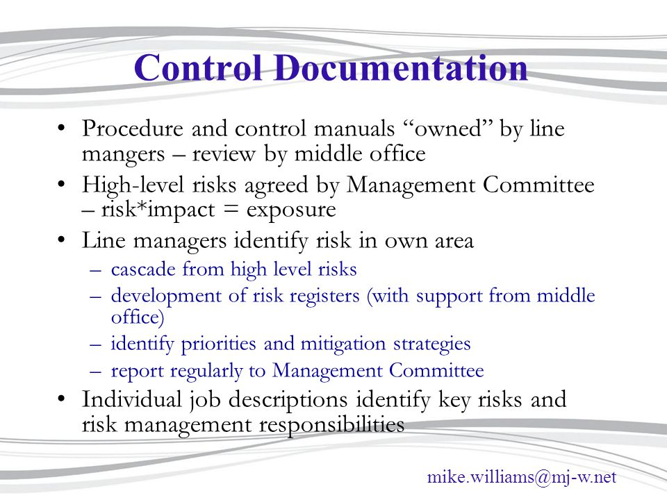 Control Documentation