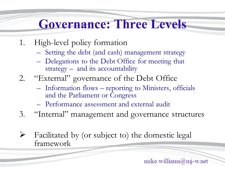 Governance: Three Levels