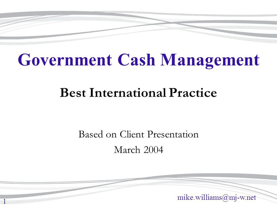 Government Cash Management