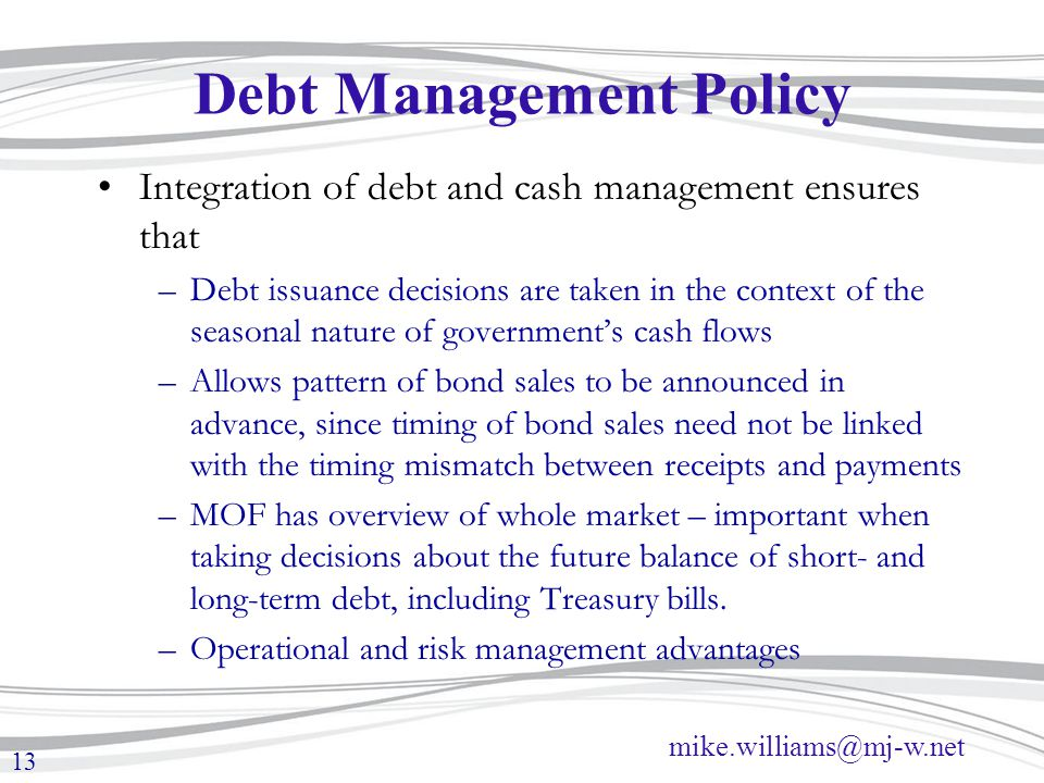 Debt Management Policy